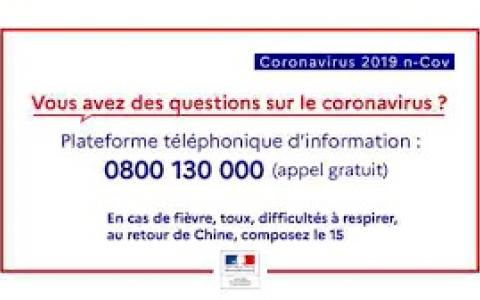 Informations relatives au Coronavirus